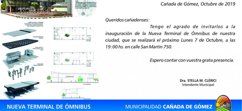 invitacion inauguracion terminal de omnibus